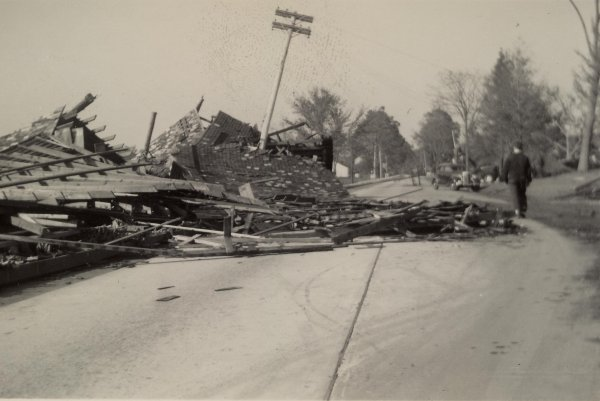 Damage from the 1938 Hurricane